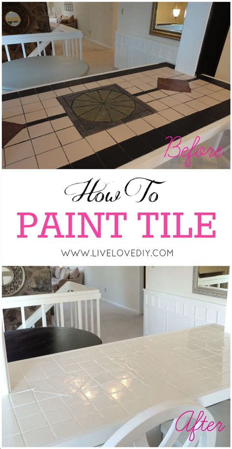 How To Paint Tile Countertops by Fresh And Easy Kitchen Style The Budget Decorator