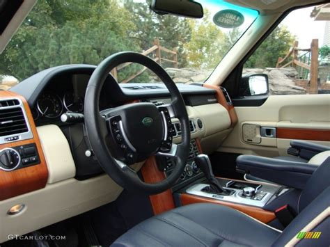 navy land rover navy blue parchment interior 2009 land rover range rover
