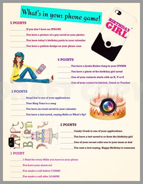 themes in it s kind of a funny story girls birthday party game whats in your phone fun party