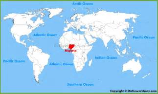 Where Is Nigeria On A World Map nigeria location on the world map