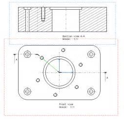 schnitt technische zeichnung schnittsprung durch teilkreis schr 228 g dassault systemes
