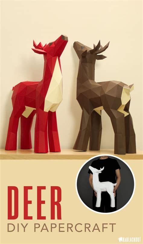 445 Best Paper Models Images On Pinterest Papercraft Paper Crafts And Paper Models Papercraft Deer Template