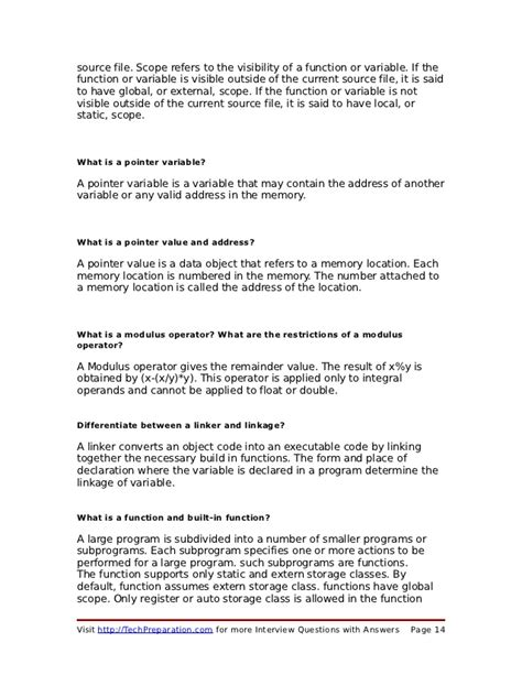pattern questions asked in technical c interviews c interview questions techpreparation