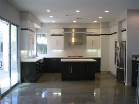 amazing modern concrete with new modern kitchen with polished concrete