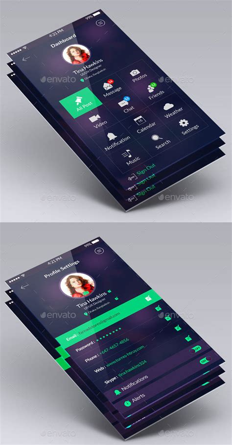 mobile application design kit 40 awesome mobile app ui psd templates web graphic