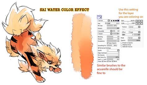 paint tool sai watercolor brush paint tool sai brushes