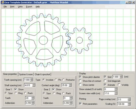 printable gear templates gear template generator help