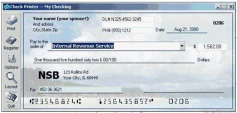 personal check printing template check printer