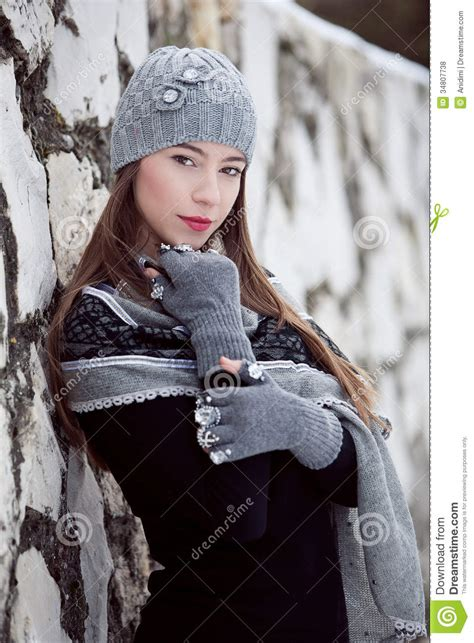 24 Most Fashionable Gloves For This Winter by Winter Fashion Portrait Stock Photo Image Of Clothes
