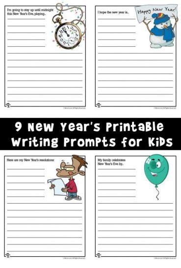new year printable story writing worksheets archives woo jr activities