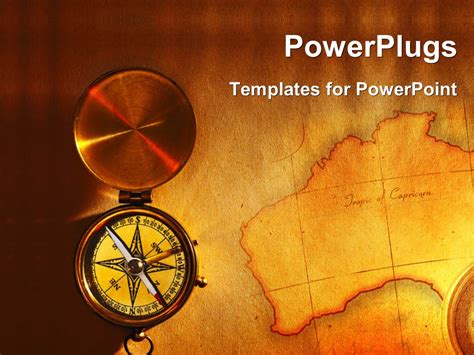 Powerpoint Template A Compass With A Map In The Background 1939 Geography Powerpoint Templates