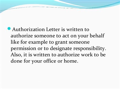 letter of authorization for someone to act on your behalf authorization letter sle