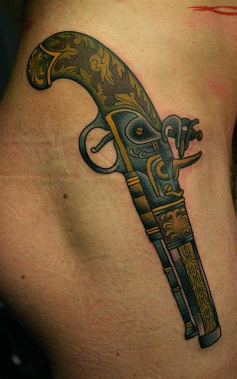 old western tattoo designs western pistol tattoos