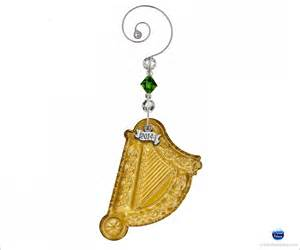 waterford 2014 harp christmas ornament gold