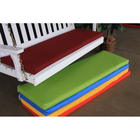 6 bench cushion 6 ft bench porch swing glider outdoor cushion