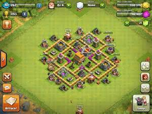 Th6 base defense shuriken town hall 6 defense base