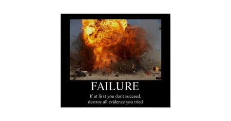 Failure Funny Moti Tional Poster Zazzle M