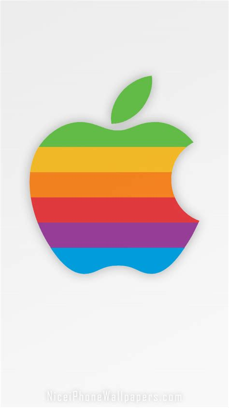 classic apple wallpaper classic apple rainbow logo iphone 5 wallpaper and background