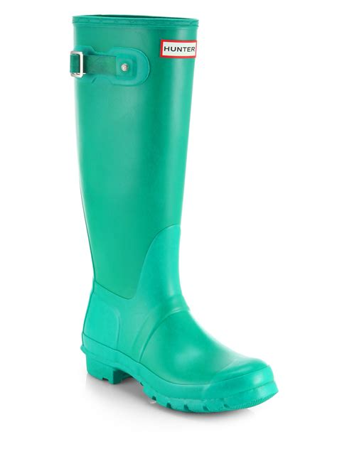 green boots original matte boots in green lyst