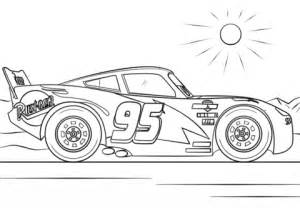 Cars 3 Sketches by Lightning Mcqueen From Cars 3 Coloring Page Free
