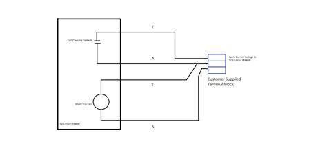 siemens shunt trip breaker wiring diagram gallery wiring