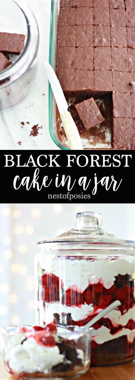 Jar Blackforest black forest cake in a jar