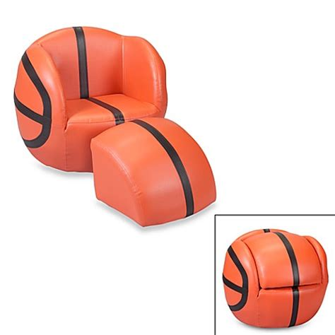 basketball chair and ottoman buy gift basketball chair ottoman set from bed bath