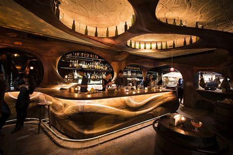 Bar Interiors Photos by Stunning Mahogany Interiors Shape Bar Raval By Partisans