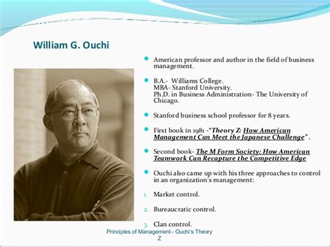 Job Based Resume by Ouchis Theory Z