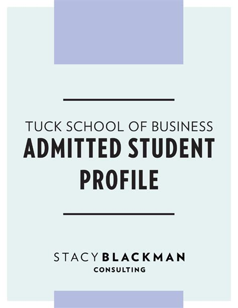 Mba Strategy Consulting by Tuck School Of Business Admitted Student Profile