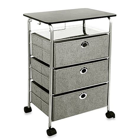 bed bath and beyond cart 3 drawer rolling cart in grey bed bath beyond