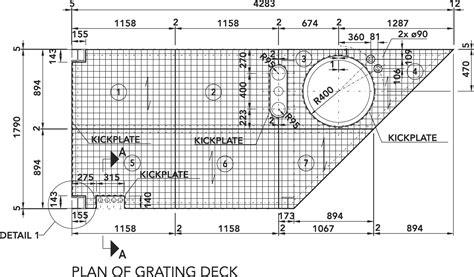 Drawingmesh M by Elefant Gratings General Arrangement Of Gratings