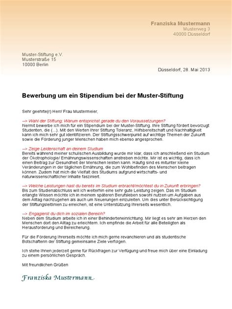 Motivationbchreiben Masterstudium Muster Muster Motivationsschreiben Stipendium