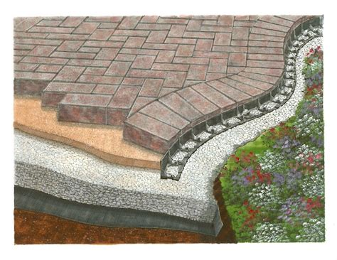 brick patio edging barrier zipper galleries barrier paver edging