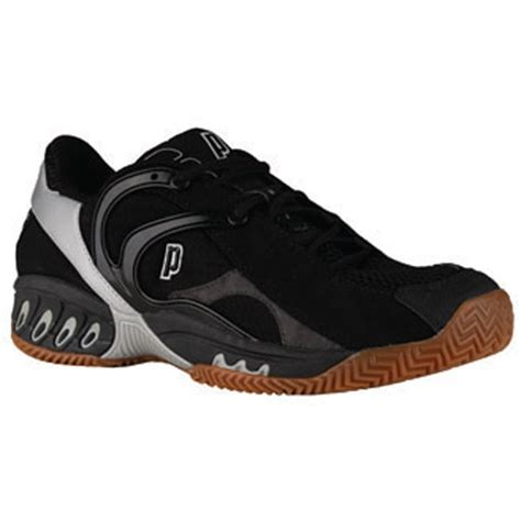 prince s mv4 indoor racquet shoe black silver from