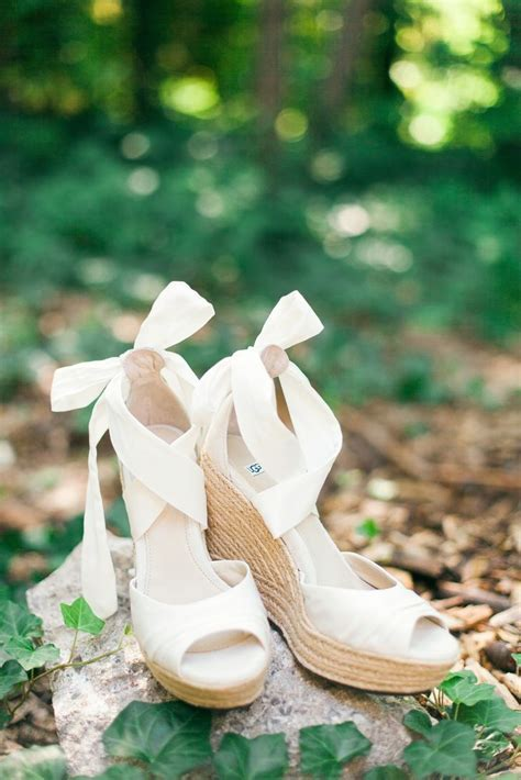 Best 25  Wedge wedding shoes ideas on Pinterest   Bridal