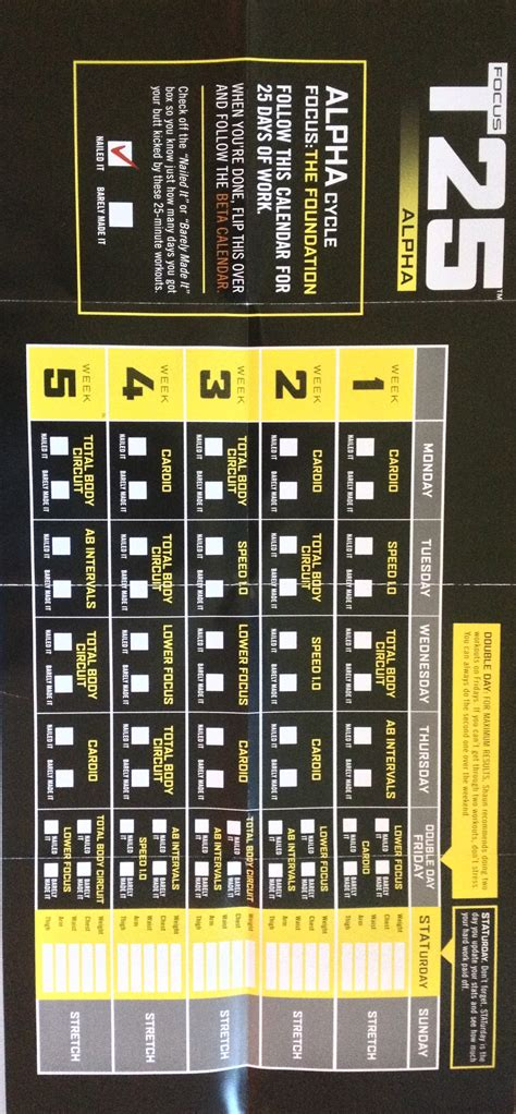 printable t25 schedule t25 calendar printable workouts workout schedule and