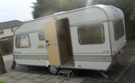 1990 abi 4 berth caravan end bedroom plus awning and