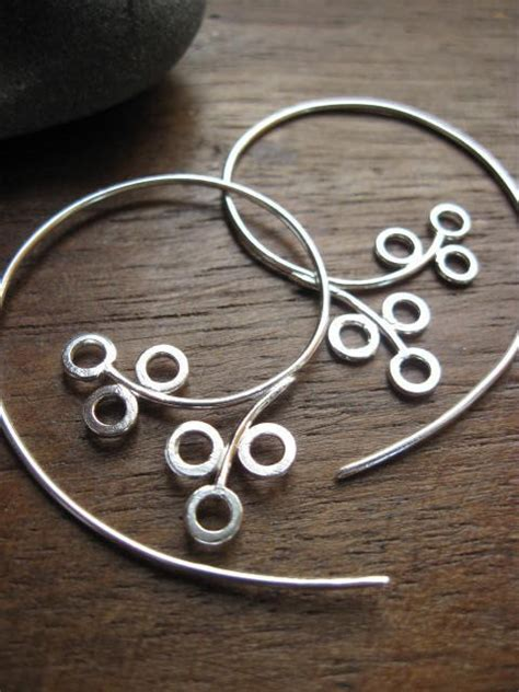 Handcrafted Artisan Jewelry - winterberry hoops handcrafted artisan jewelry by athousandjoys