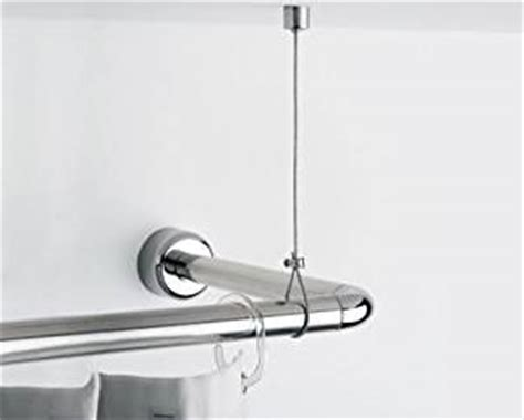 shower curtain rail with ceiling support homestyle universal ceiling support for shower rail 9600
