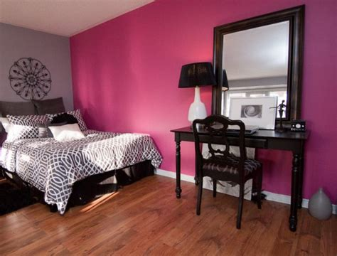 accent walls bedroom accent wall in violet fuchsia brings a sense of luxury to