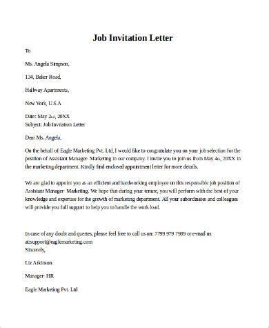 Invitation Letter Form Pdf sle invitation letter 9 exles in pdf word