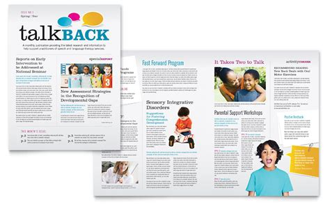 speech therapy education newsletter template word