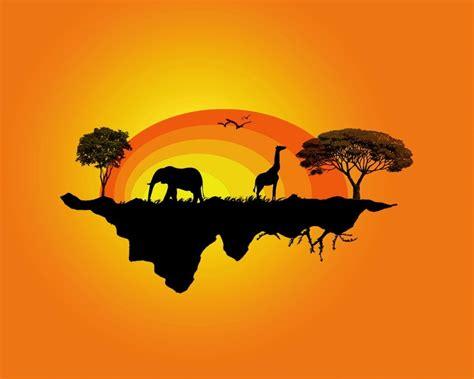 abstract elephant wallpaper hd abstract silhouette elephants giraffes 1280x1024 wallpaper