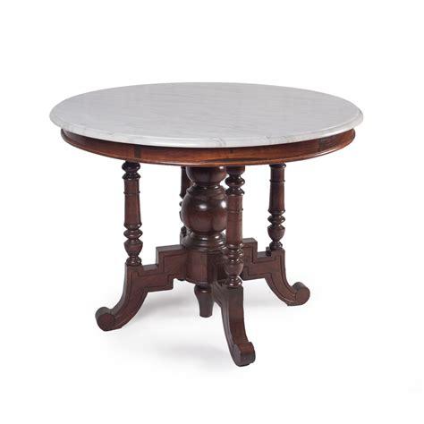 Meja Makan Marmer Antik 5 Kursi meja bulat kayu jati dan marmer antik murah saga