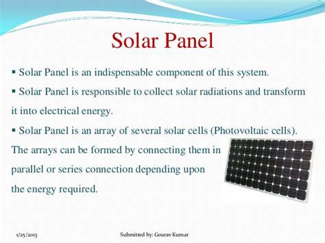 Solar Panel Technology Ppt Solar Lighting System Ppt