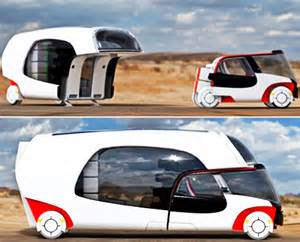 car home colim caravan with 2 detachable parts car and mobile home