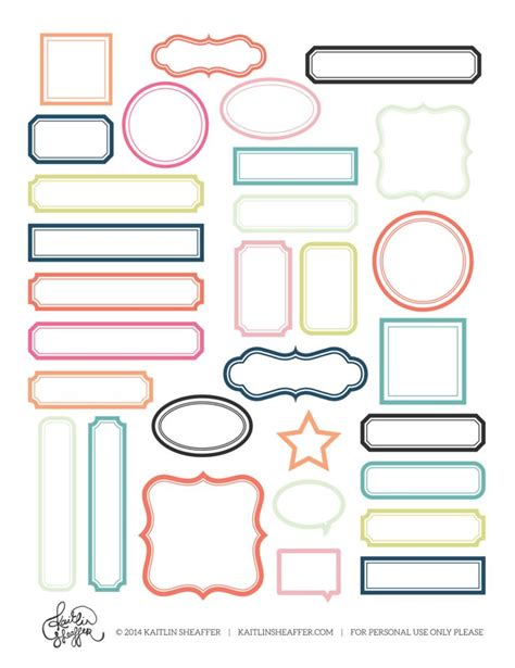 printable stick on name tags 48 best images about filofax on pinterest erin condren