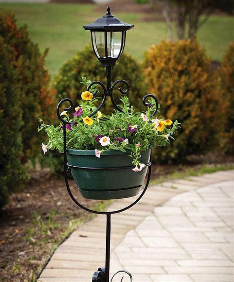 Solar Light Planter black solar light planter