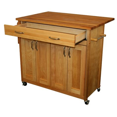 drop leaf kitchen island cart catskill mid sized kitchen island cart w drop leaf